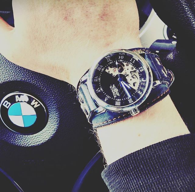 Happy customer submit taking his new baby for a spin!  Featured watch: Viper ($139,-)