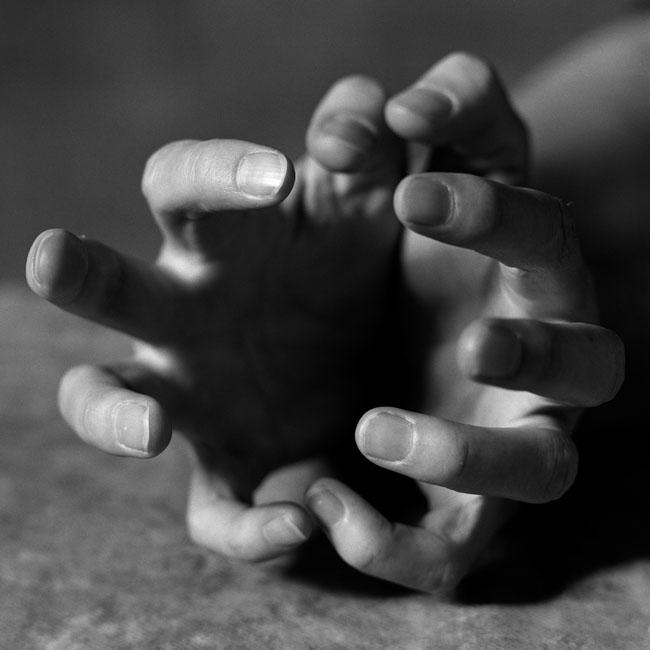 Hands of Jenny Holzer