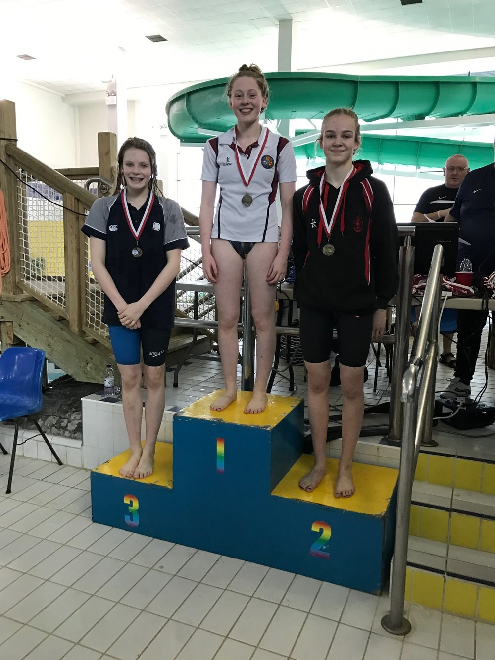 Madelyn Calvert - came 2nd in the junior 100m backstroke and 3rd in the 100m freestyle