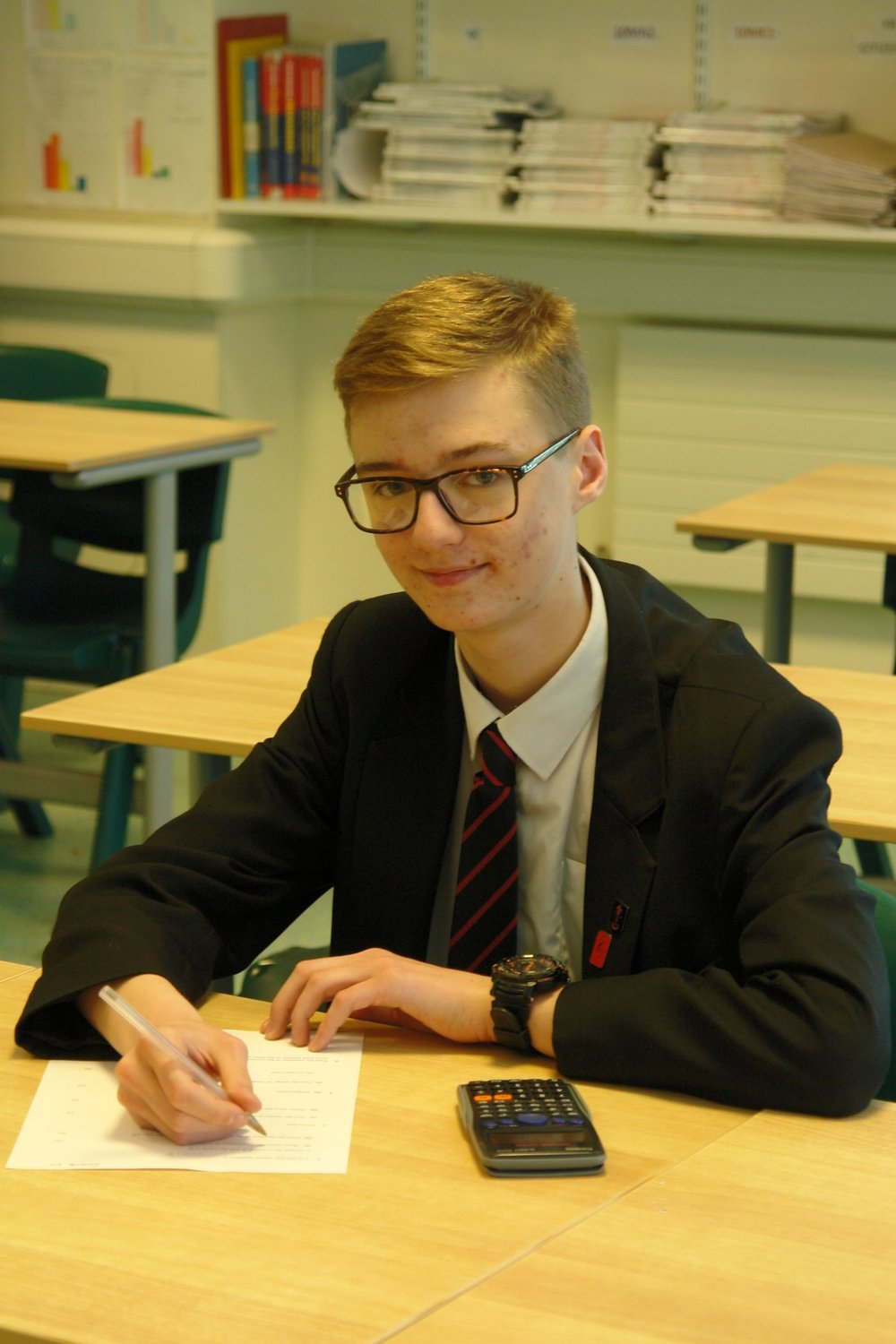 James McNinch - will be heading to a Mathematics summer school at the University of Oxford