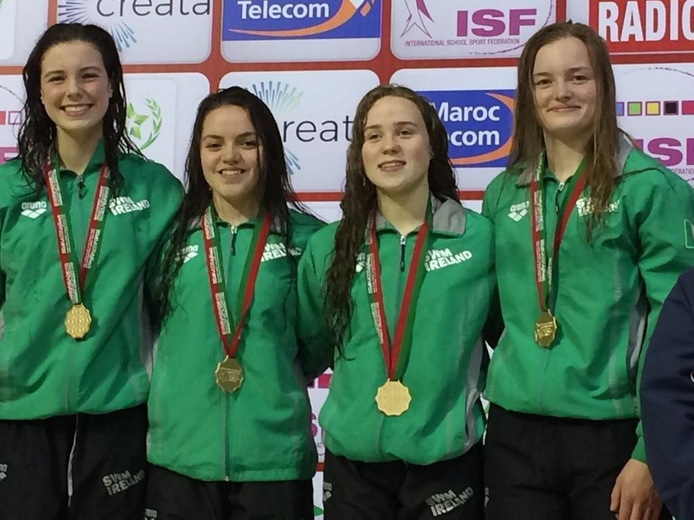 Girls 400m Freestyle Relay (Gold medal).jpg