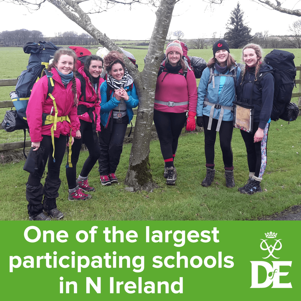 One of the largest participating schools in the Duke of Edinburgh Award Scheme