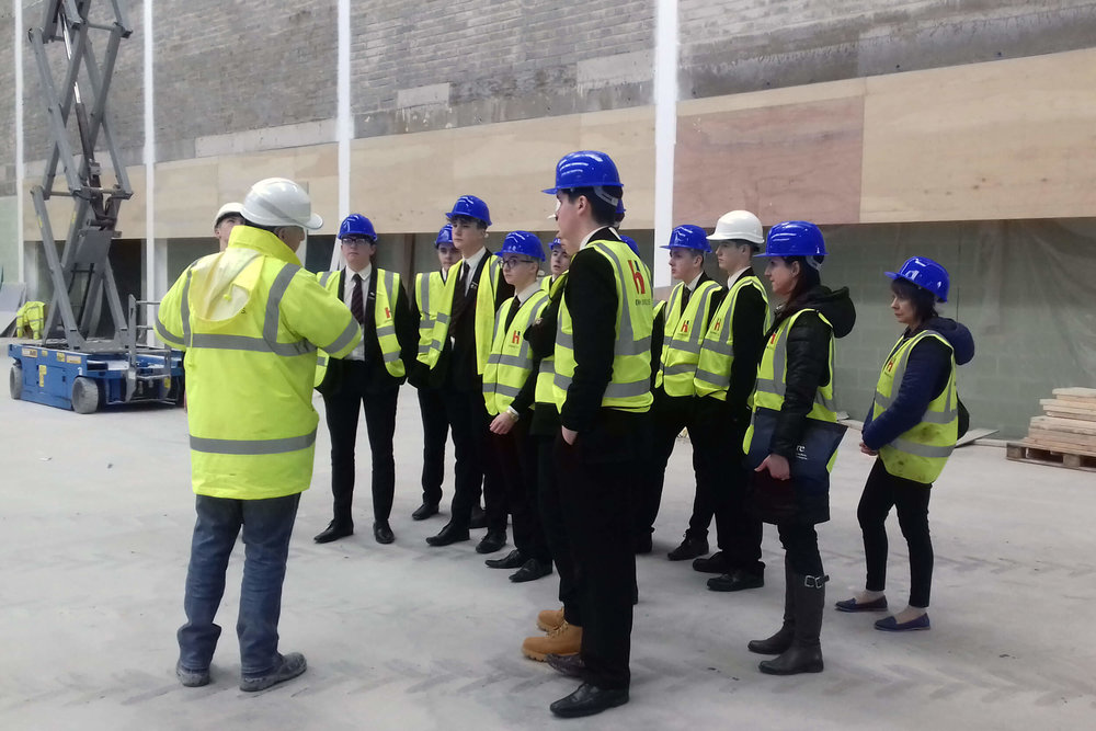 Y14 Students at Ards Leisure Centre site