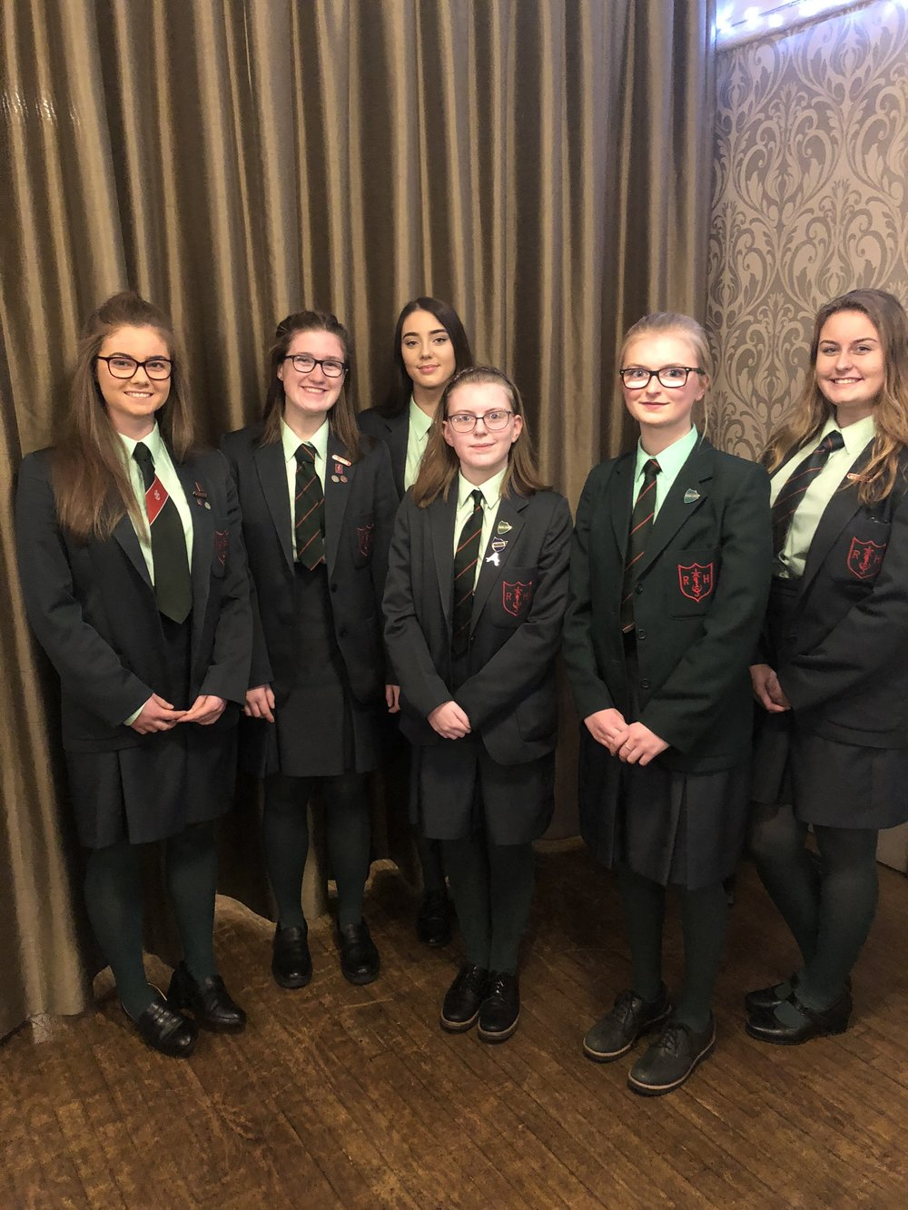 Debating Society - Pupils from Middle and Senior school participating in the Soroptomist Public Speaking competition in October in Bangor Golf Club.