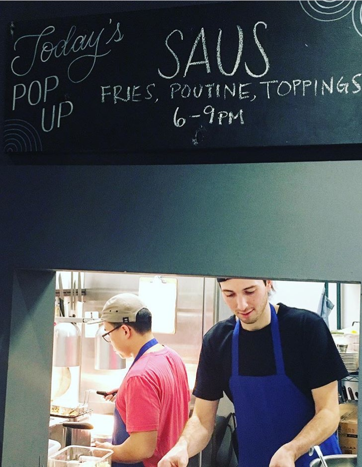 Have us pop-up in your space. - We can make poutine on-site with our portable fryers, or bring our waffle irons for a sweeter option.Contact saus@sausboston.com for us to pop-up!