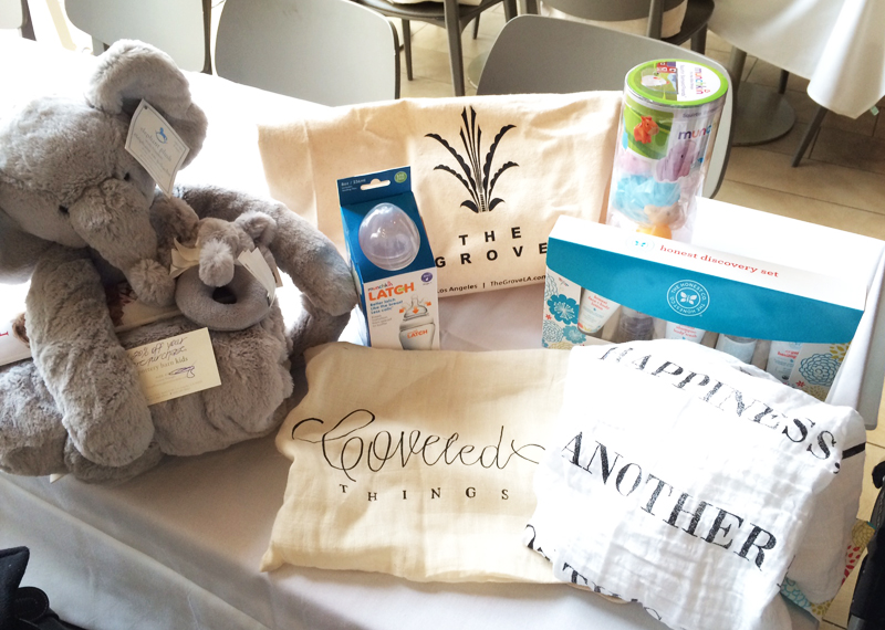 All guests received these goodies from a range of mama must-have brands.