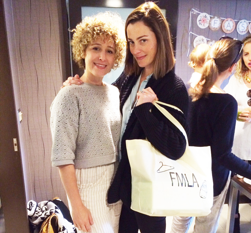 Baby brand designer mamas, unite! Here's   Ultra Violet Kids  ' Michelle Chaplin with   Little Minis  ' Kelly Zajfen.