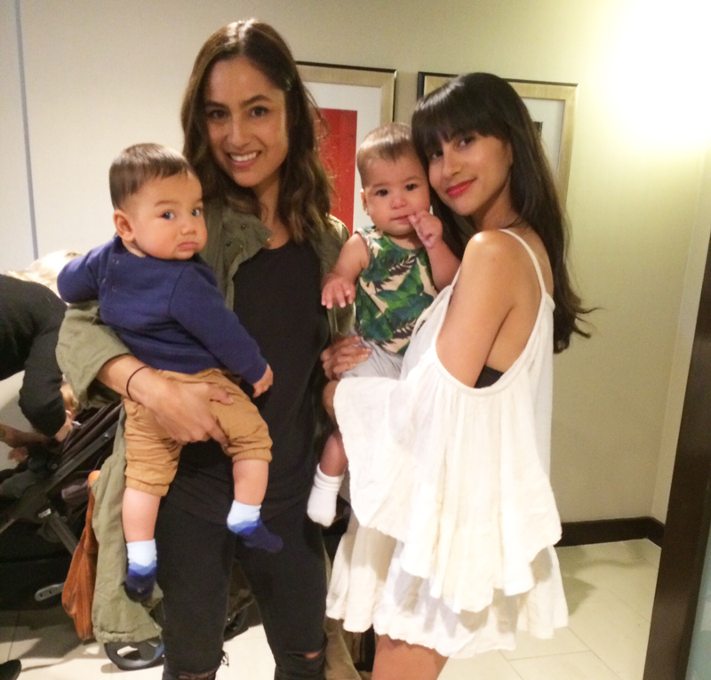 Designer   Renee Garcia   and FMLA founder   Natalie Alcala   with their little ones, who are seriously #twinning.