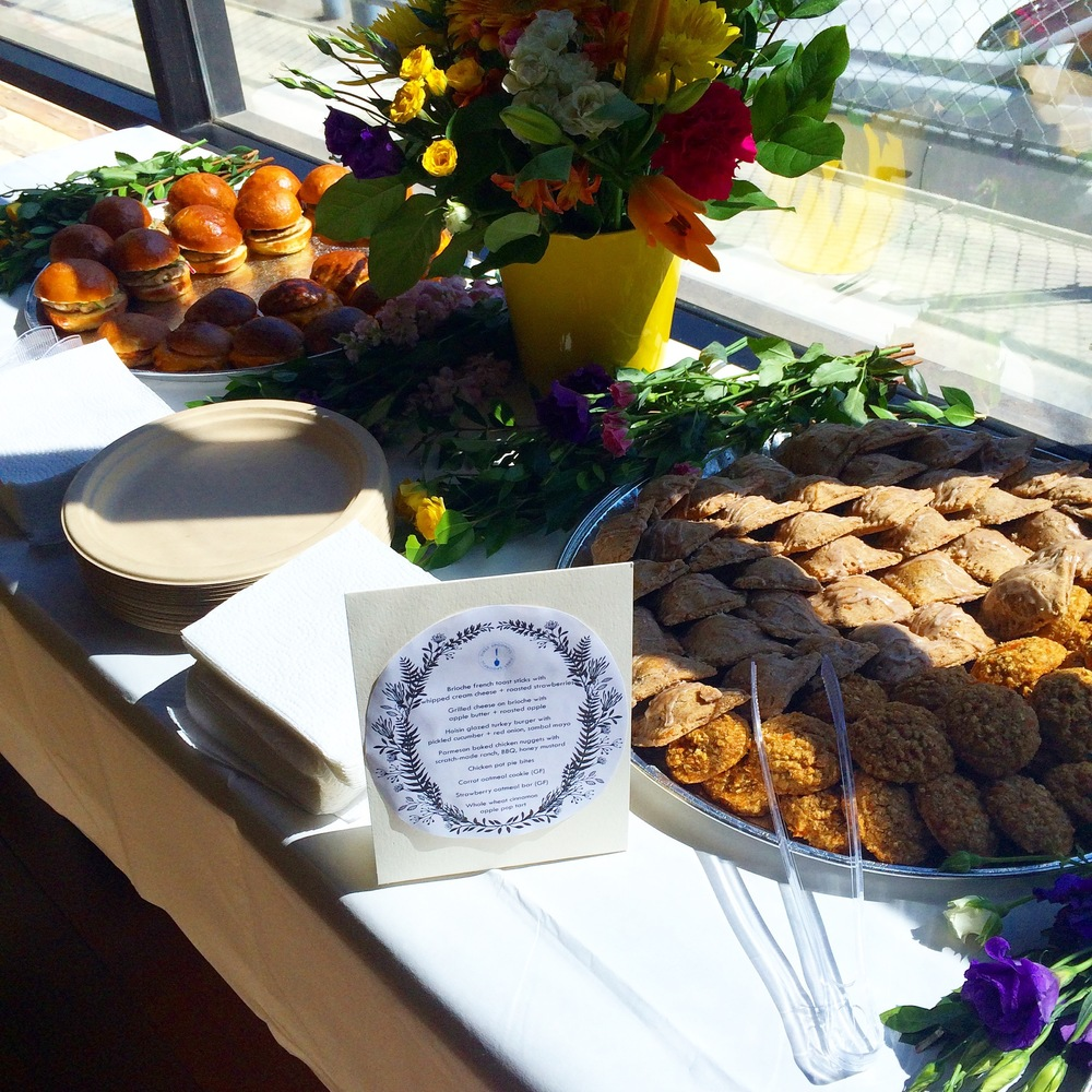Jewett's delicious treats at First Spoonful's launch event at Seedling.