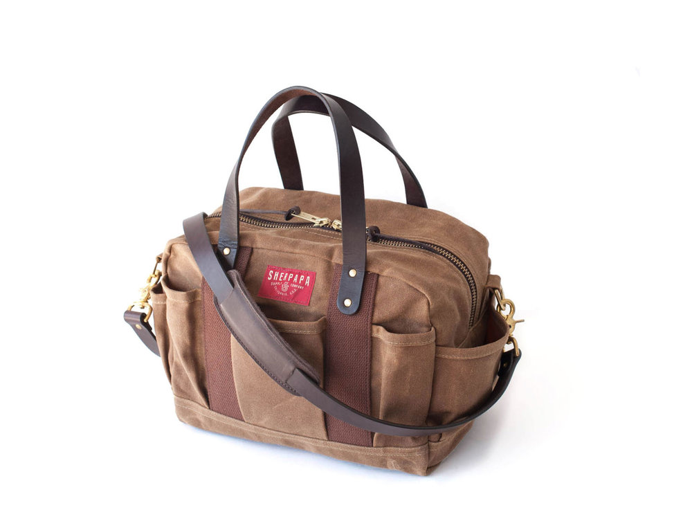 Sherpapa Supply Co. The James diaper bag , $175 to $295