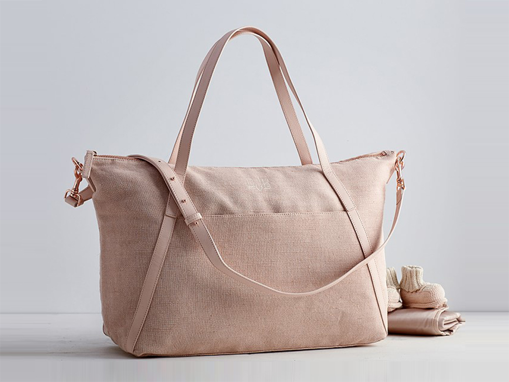 Monique Lhuillier Diaper Bag in Blush , $249
