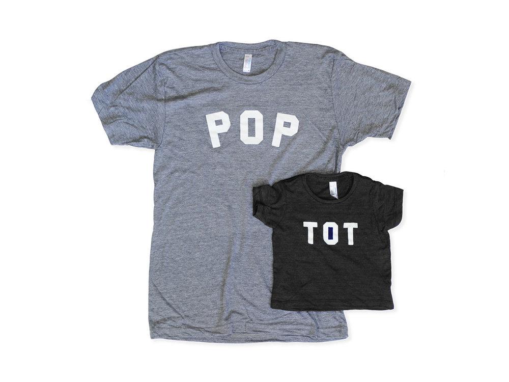 Tosan  Black Heather Pop and Tot Tee Set , $50 (orig. $55)