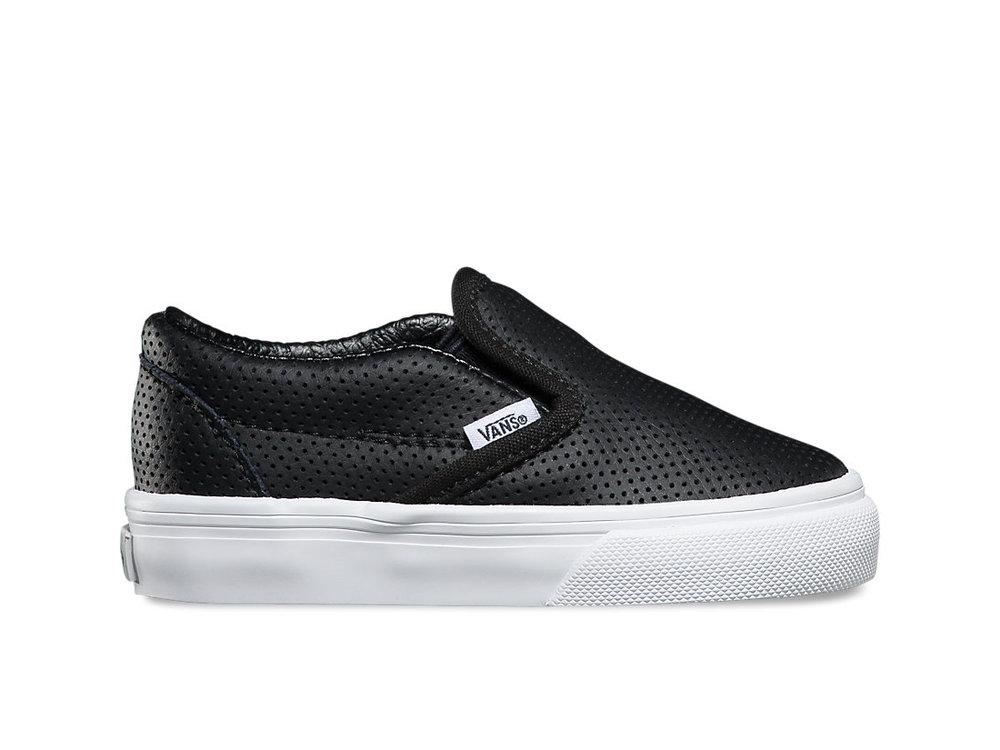 For the little one: Vans  Toddlers Perf Leather Slip-On , $35