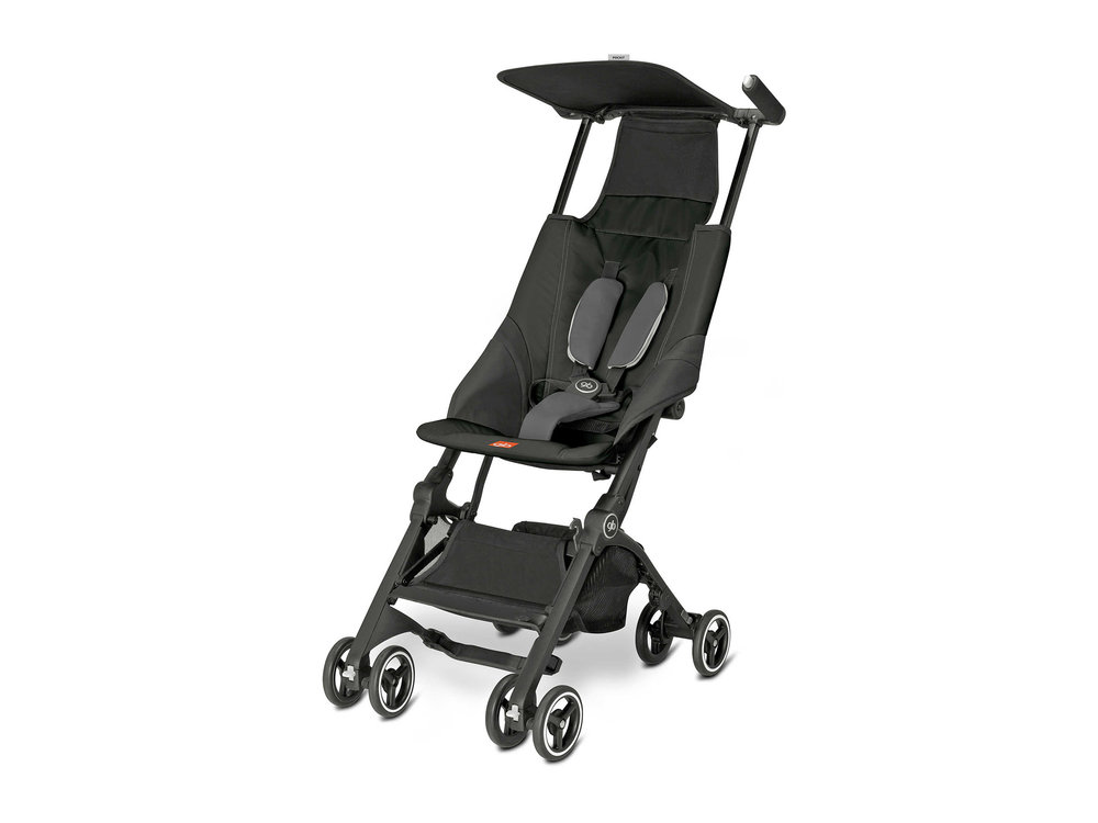GB Pockit Stroller in Monument Black , $250