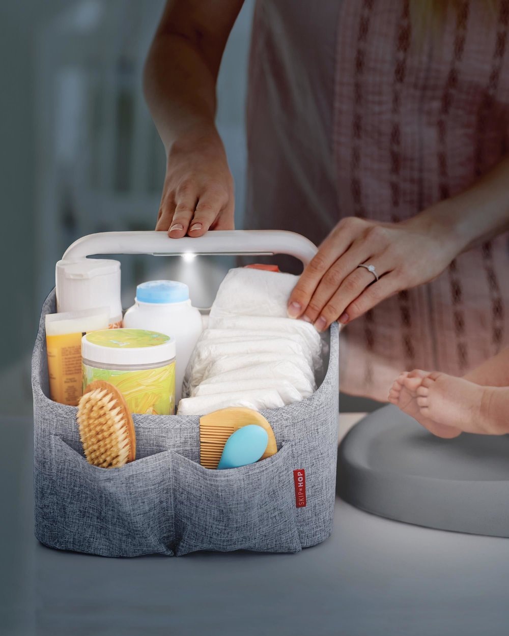 Skip Hop Light-Up Diaper Caddy, $40