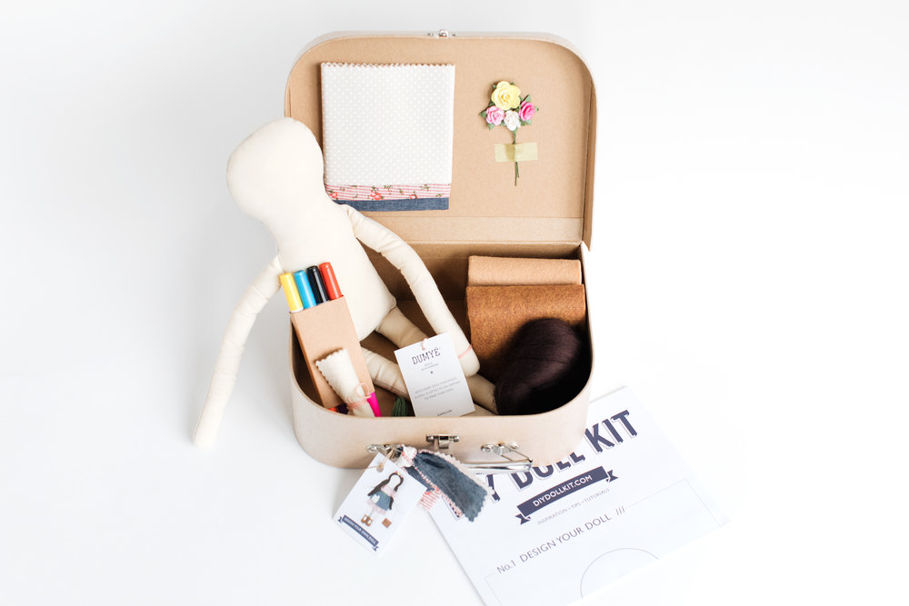 Dumyé 'Sunday's Rose DIY Doll Kit,'  $64