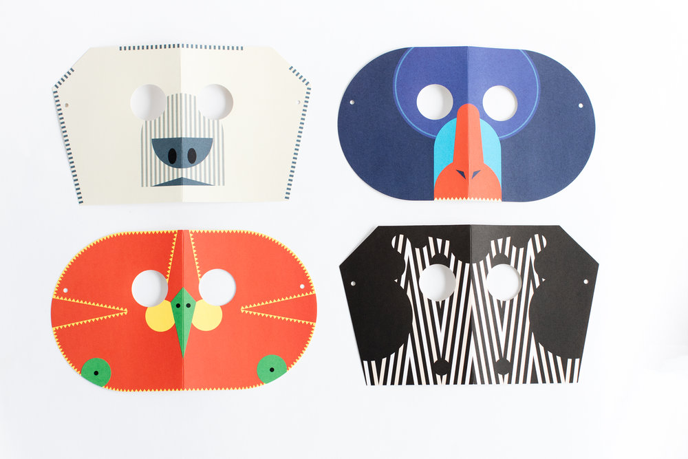 Fredericks & Mae 'Animal Mask Notecards,'  $12