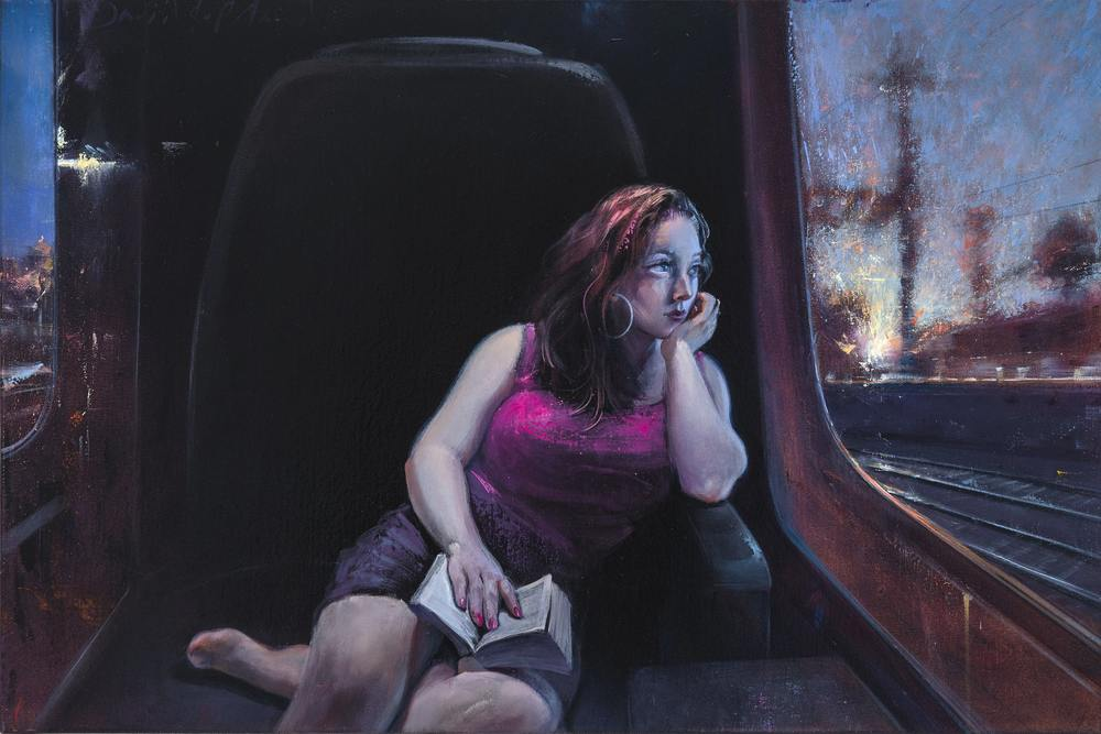 "Quiet Car  24"" x 36"" Oil on Canvas"