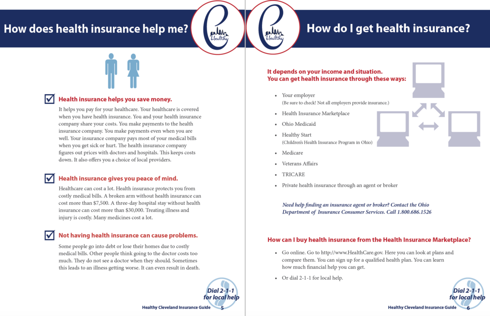 Click here to view Healthy Cleveland's health insurance guide.