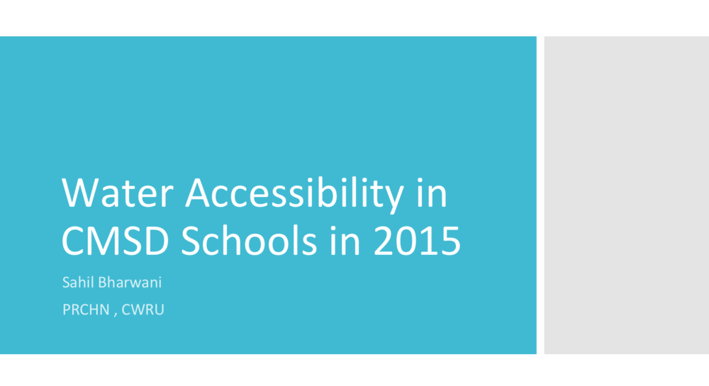 Click here to view a presentation about water accessibility in CMSD schools.