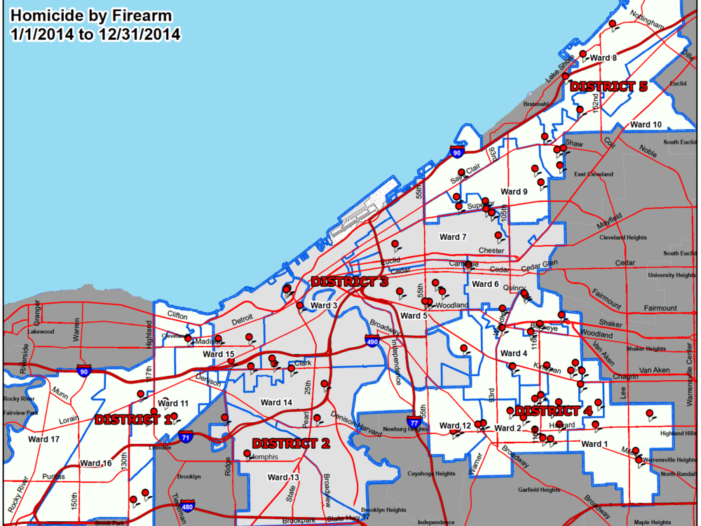 Click here to view a full PDF of Cleveland homicides by firearm in 2014.