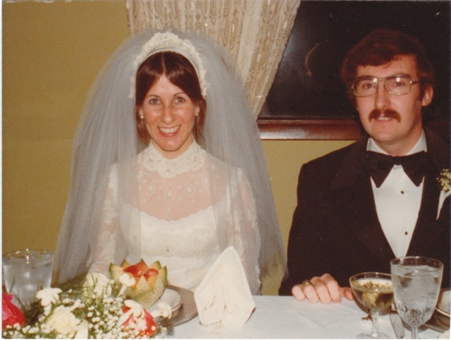 My mom and dad on their wedding day. June 8th, 1974.