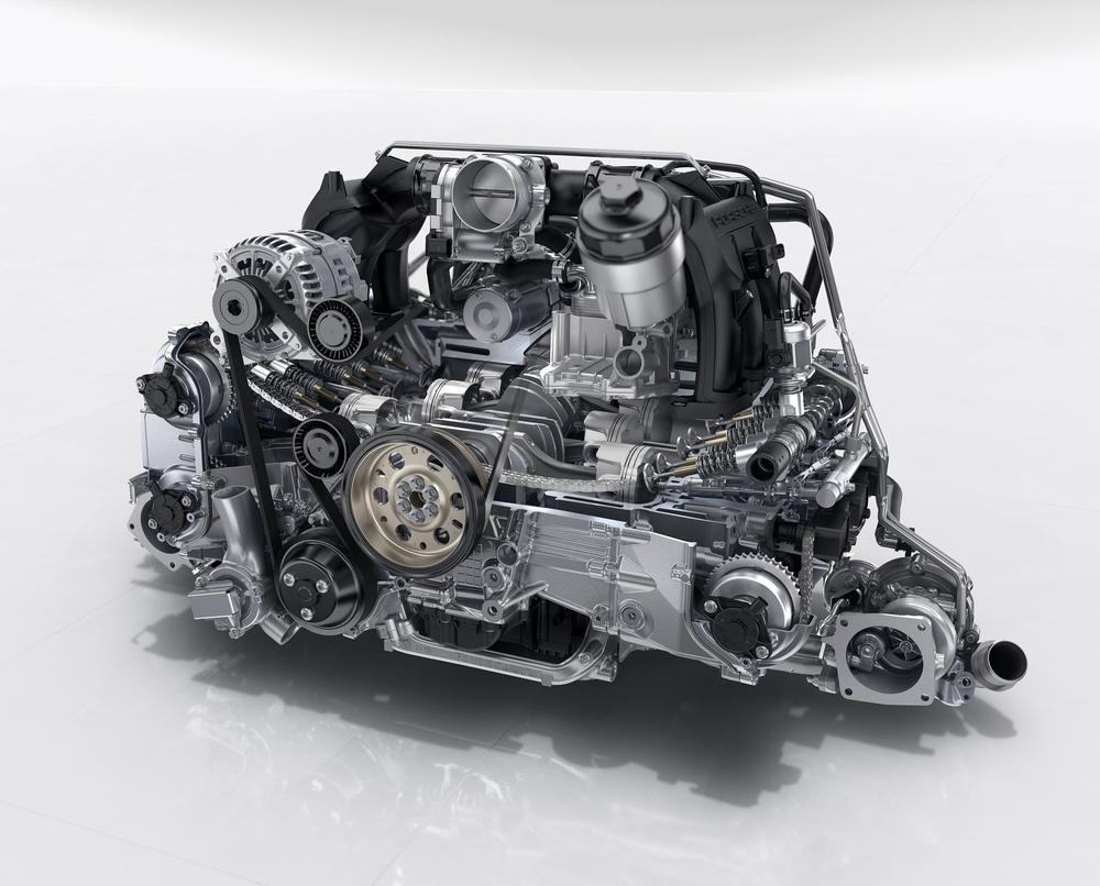 신형 포르쉐 911의 엔진 절개도. (포르쉐 보도자료)