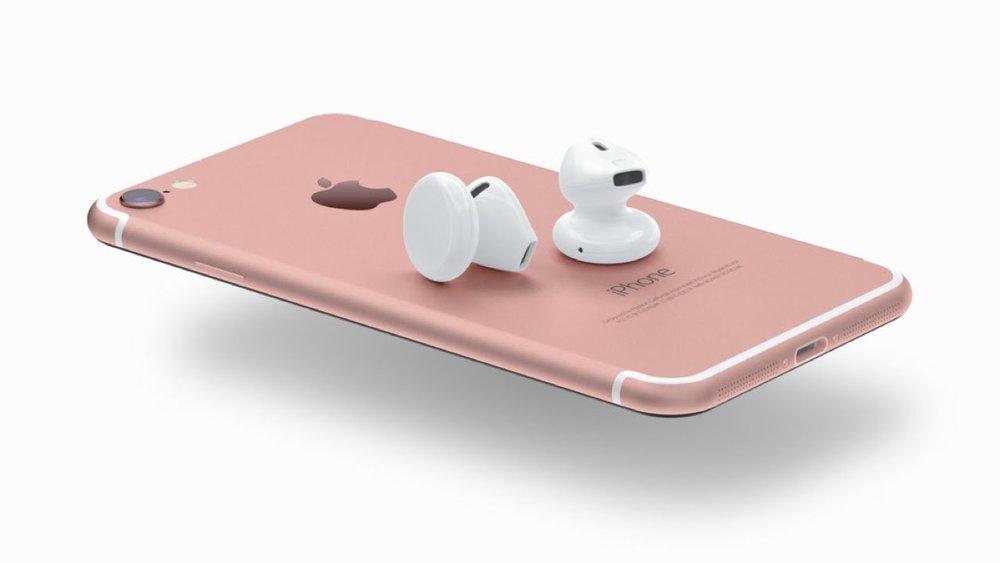 아이폰 7과 에어팟 상상도.