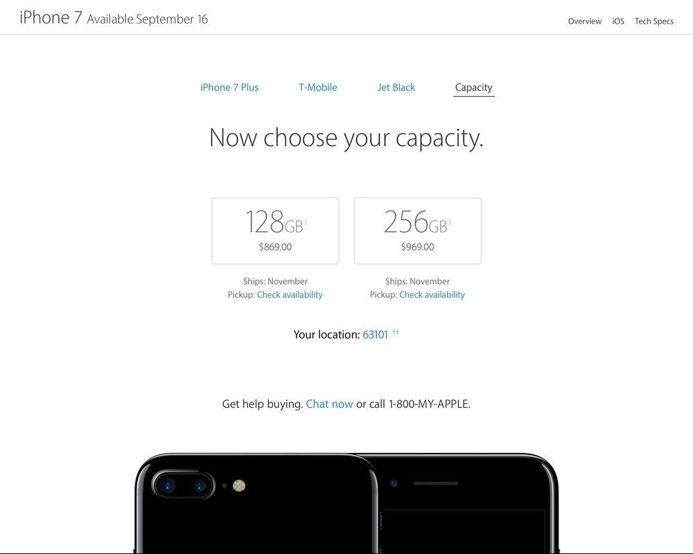 아이폰 7 플러스 제트 블랙 색상은 11월까지 기다려야 하는 상황입니다.