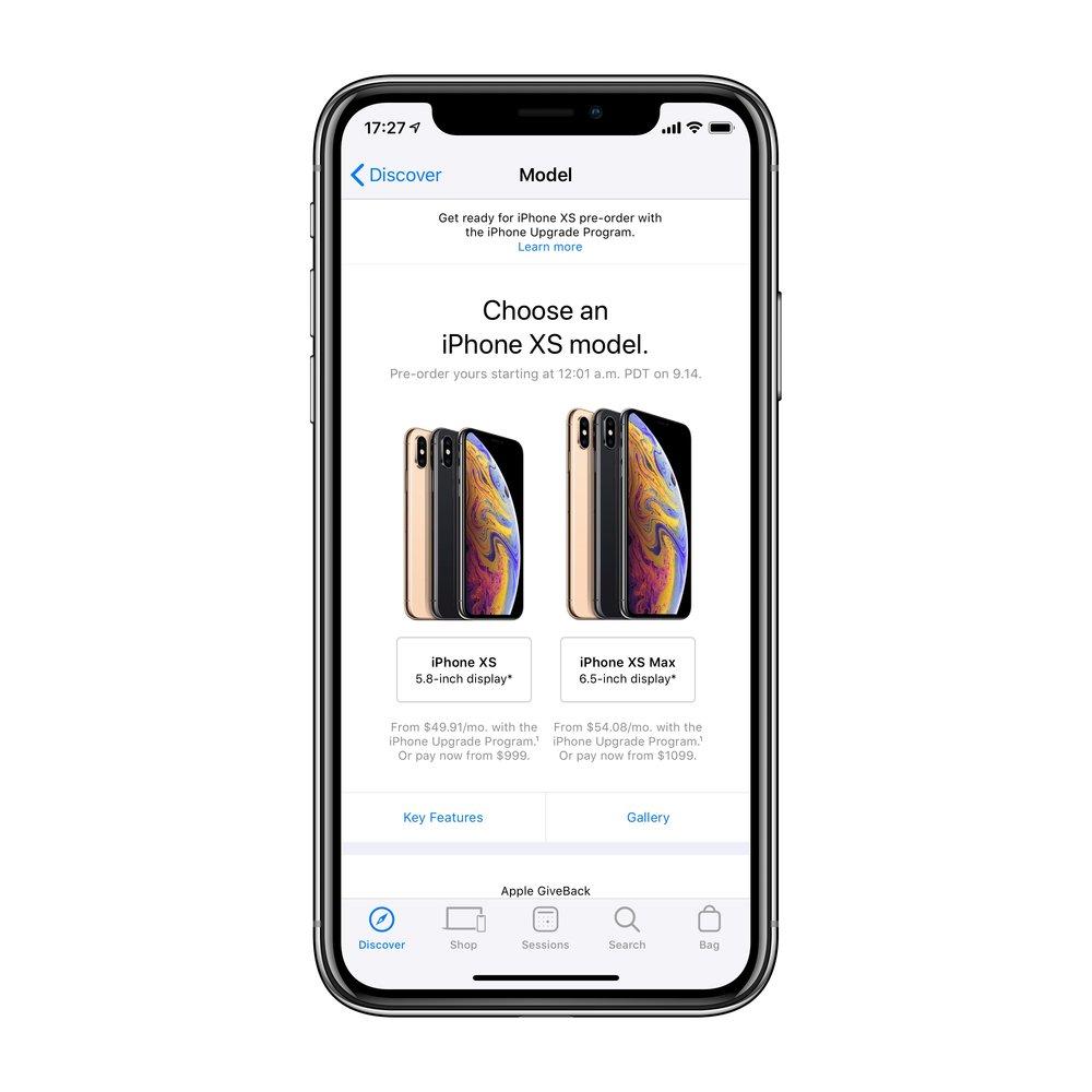 Shop - iPhone에 들어가 원하는 모델을 선택합니다.