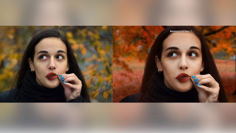 (좌: Dunja Djudjic의 사진, 우: 삼성 홈페이지에 올라온 갤럭시 A8 스타의 샘플 사진)