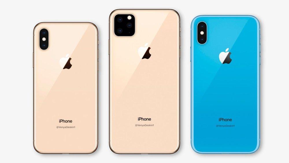 2019년형 아이폰의 예상 렌더링