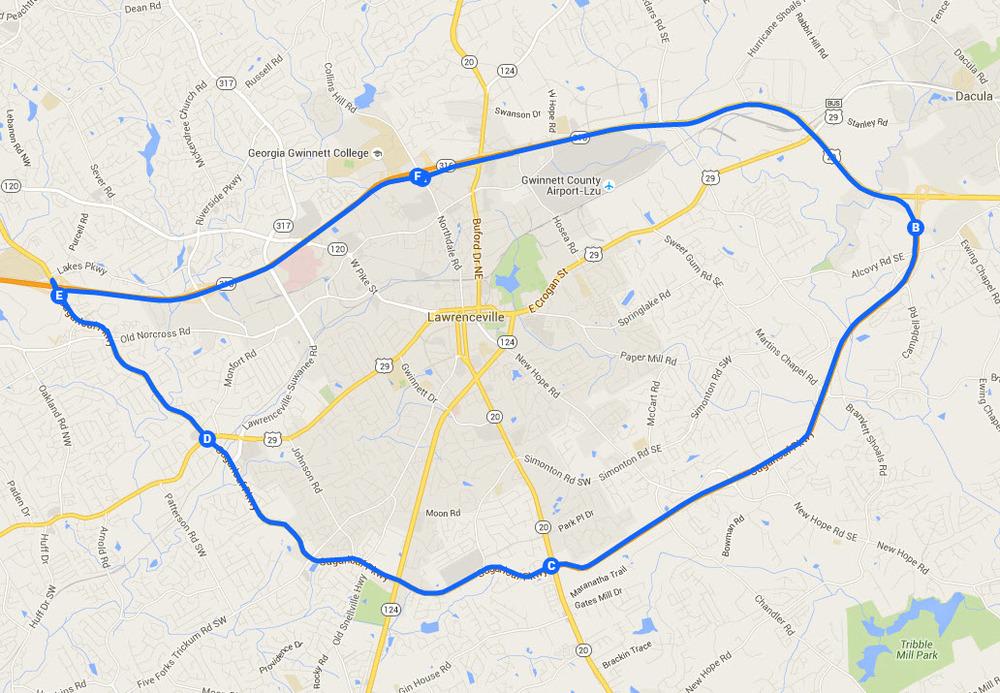 Georgia Moto Meetup Chaseontwowheels - Georgia map lawrenceville