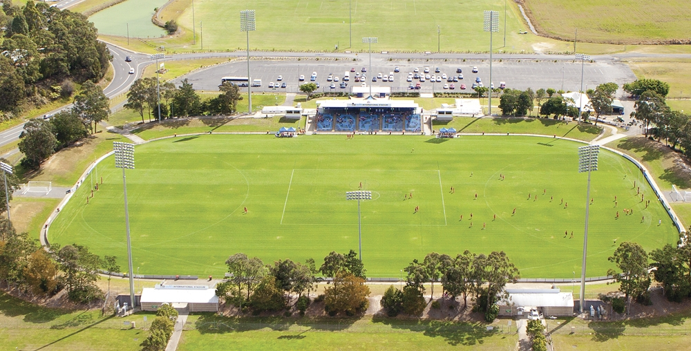 Fourth Tackle, Coffs Harbour, C.EX International Stadium   As the temperatures get warmer, Brisbane gets closer, Coffs Harbour and Sawtell is our home before we cross the border into Queensland