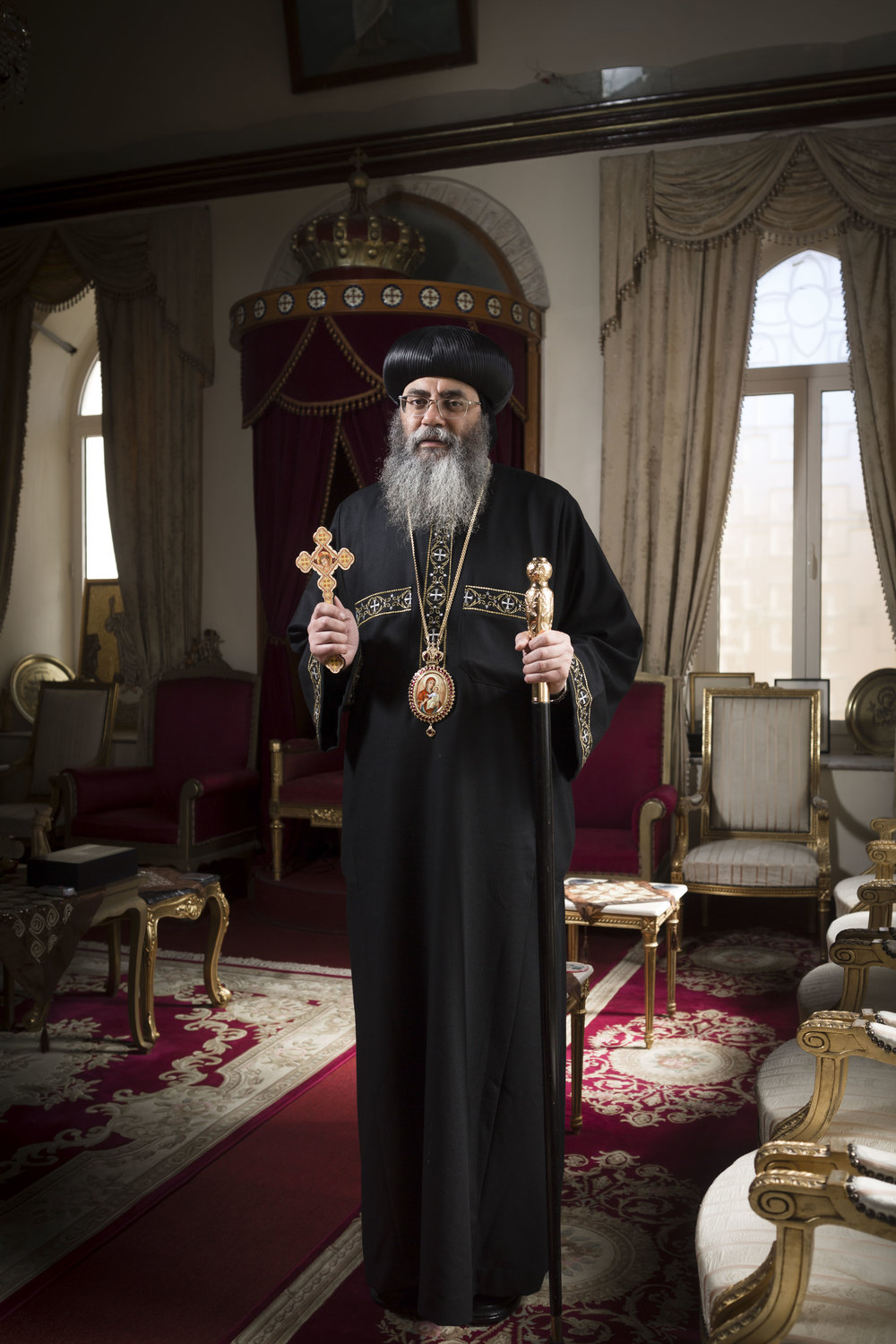 Portrait of Dr. Anba Abraham, Archbishop Coptic Orthodox Patriarchate of Jerusalem.