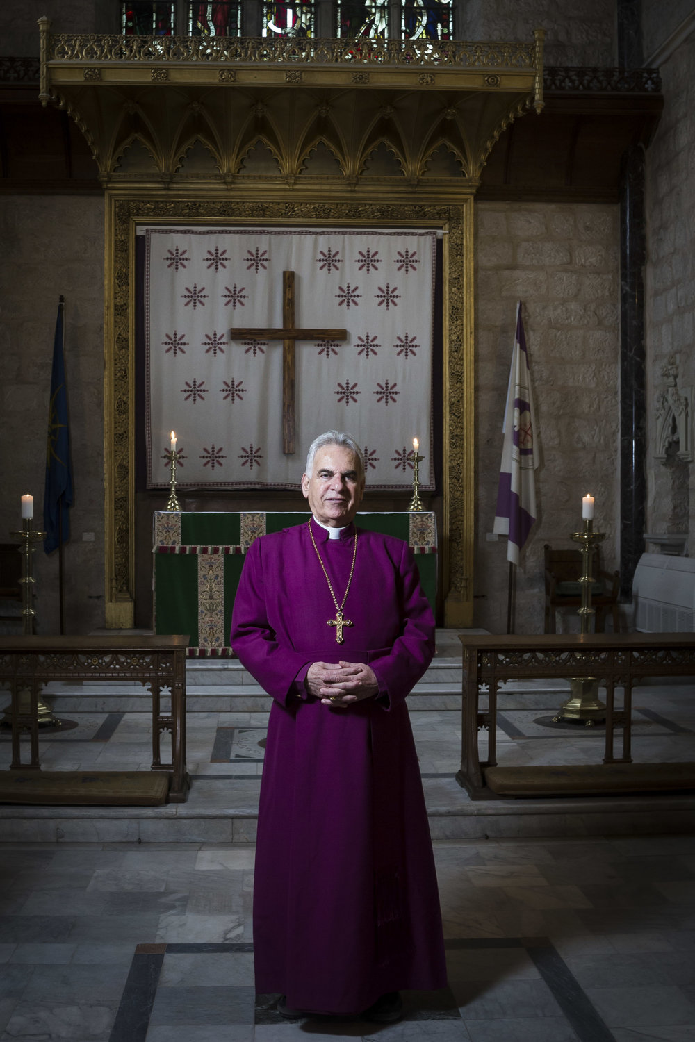 Portrait of The Rt. Revd Suheil Dawani,  The Episcopal Diocese of Jerusalem & The Middle East in Jerusalem.
