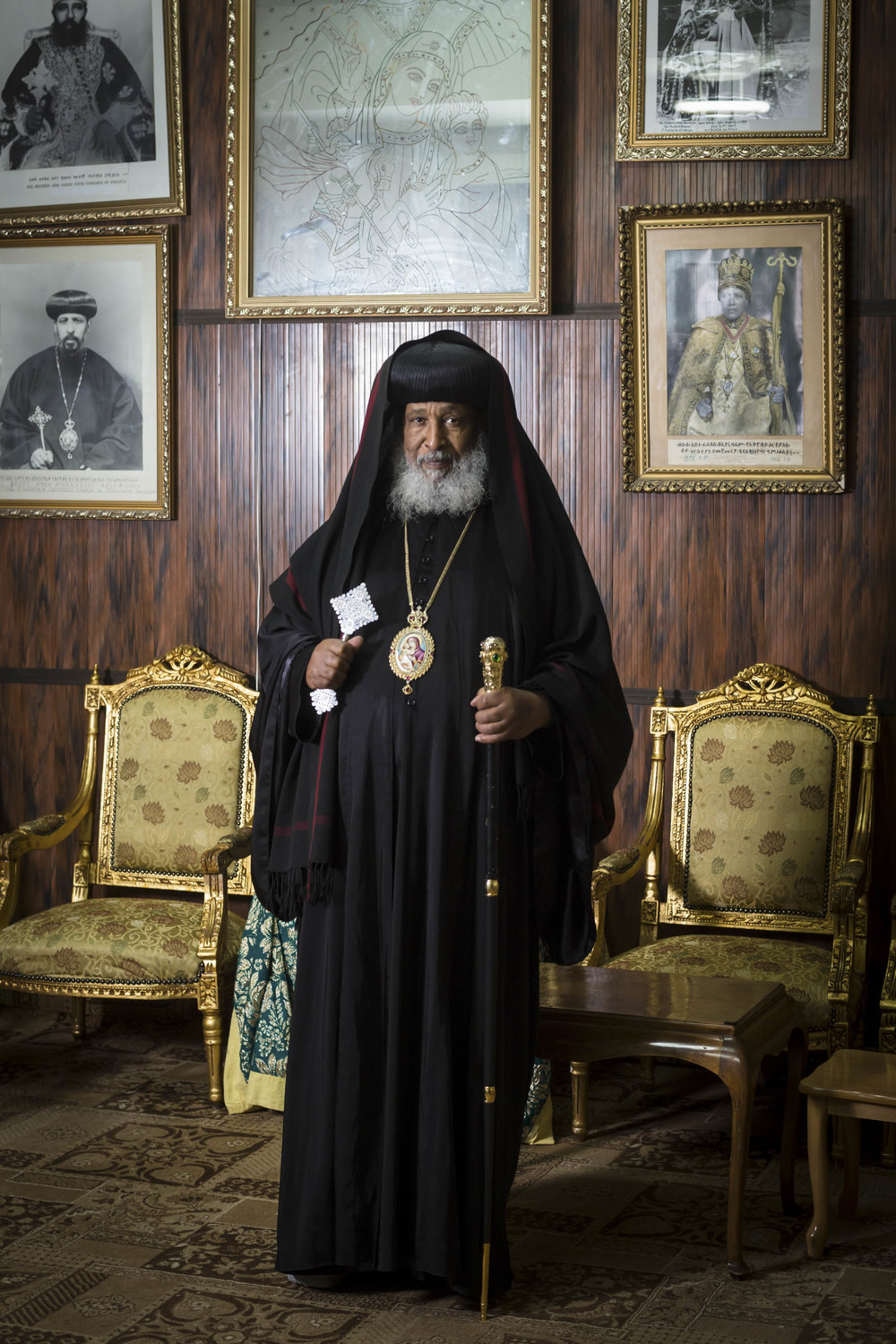 Portrait of Archbishop Abune Enbaqom the Ethiopian Orthodox Patriarchate in Jerusalem's Old City