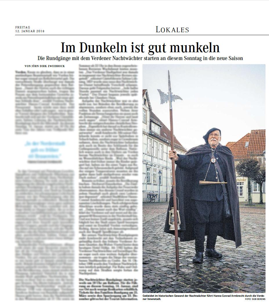 """Portrait of Hanns-Conrad Armbrecht - """"Im Dunkeln ist gut munkeln"""" by Jörn Dirk Zweibrock for Weser Kurier"""