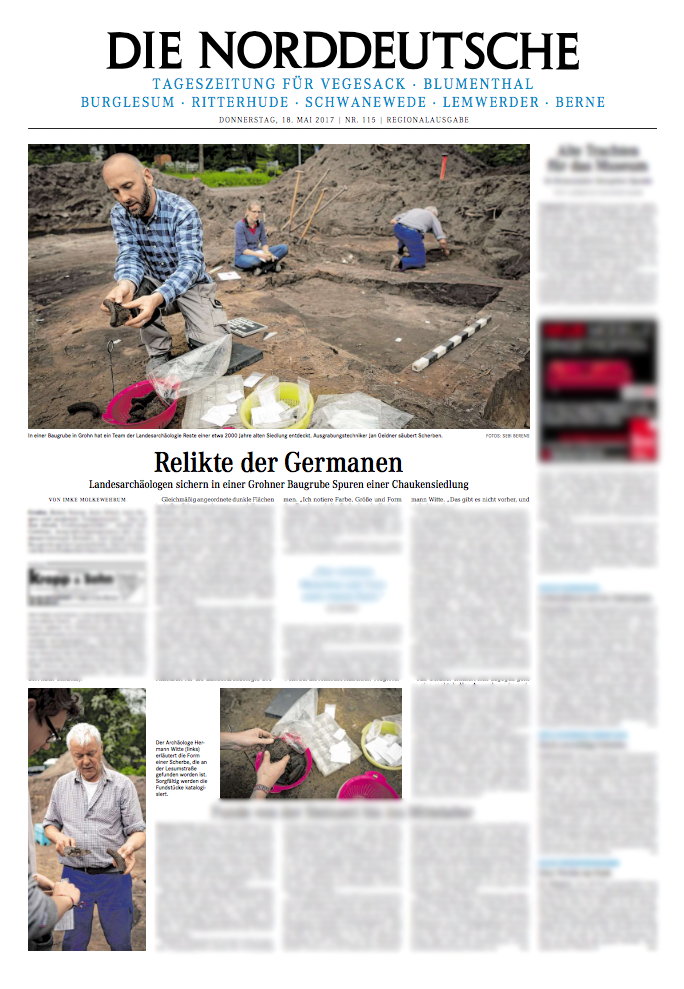 """""""Relikte der Germanen"""" by Imke Molkewehrum - for Weser Kurier/Norddeutsche"""