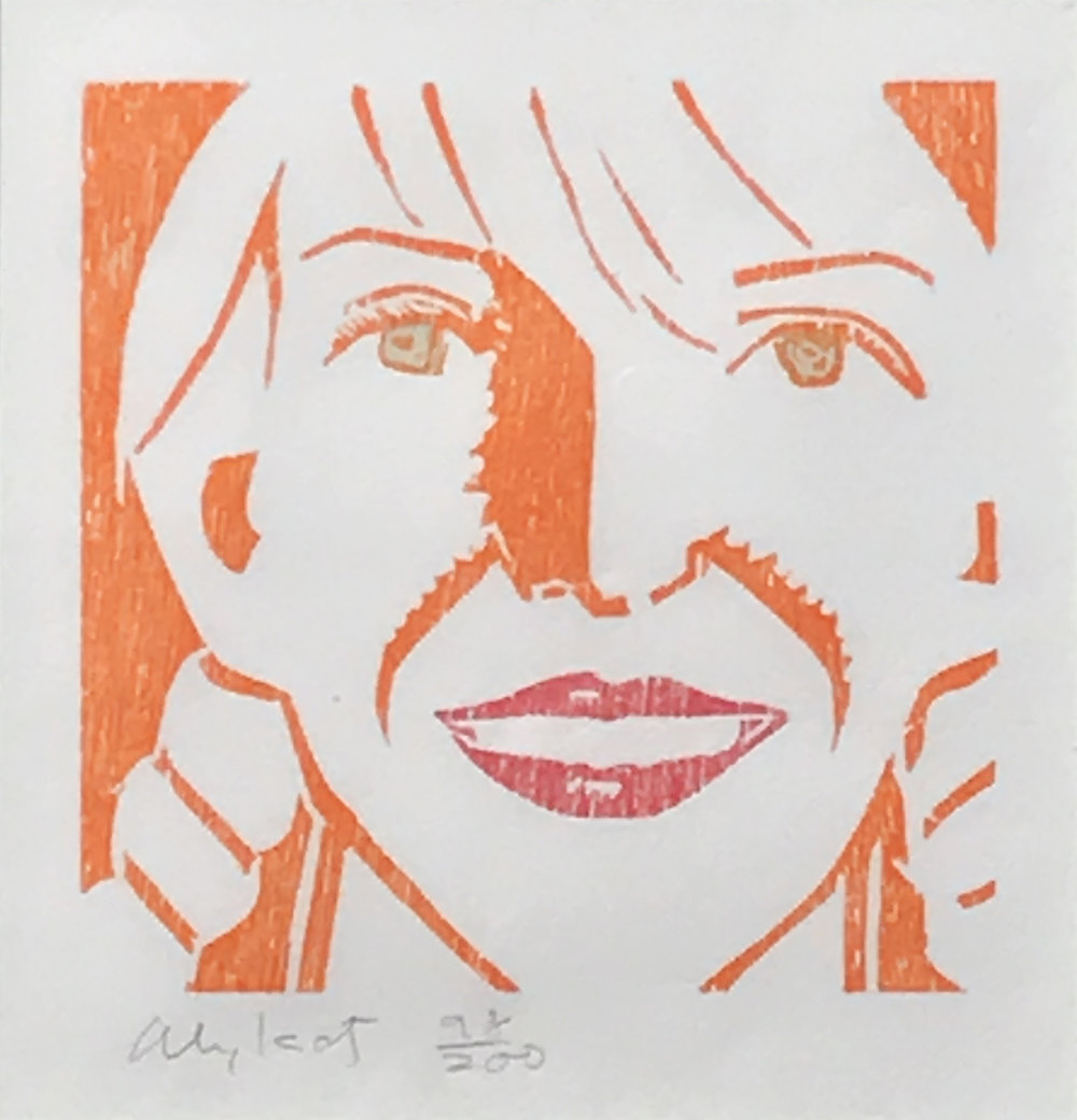 5.	Alex Katz. Jessica, 1994. Color woodcut, ed. 98/200, 13 ½ x 12 ¼ in.