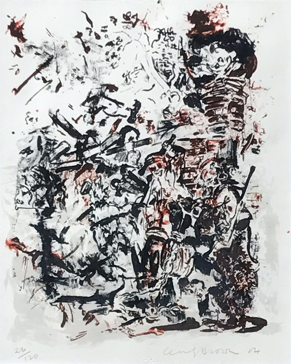 6.	Cecily Brown. Untitled, 2004. Lithograph ed. 26/120, 16 ¾ x 13 in.