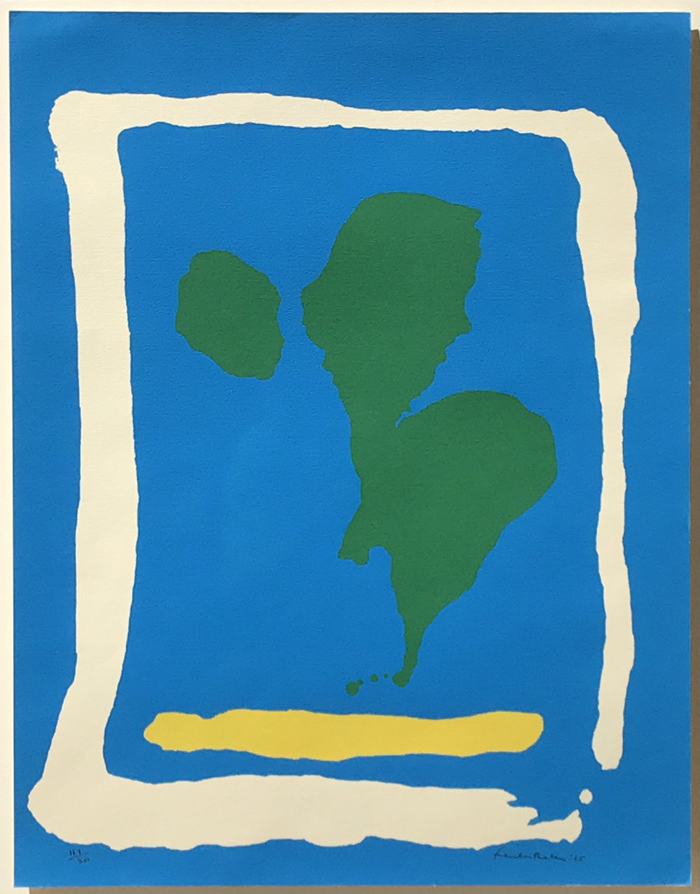 10.	Helen Frankenthaler. Air Frame, 1965. Screenprint, ed. 157/200, 22 x 17 in.