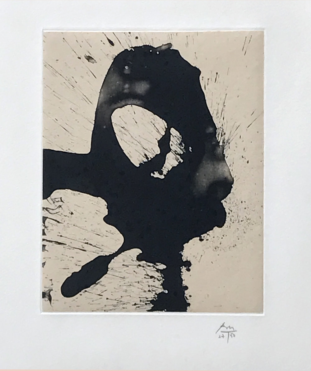 13.	Robert Motherwell. Nocturne I, 1987. Lithograph and chine appliqué on Arches paper, ed 27/50, 27 x 23 in.