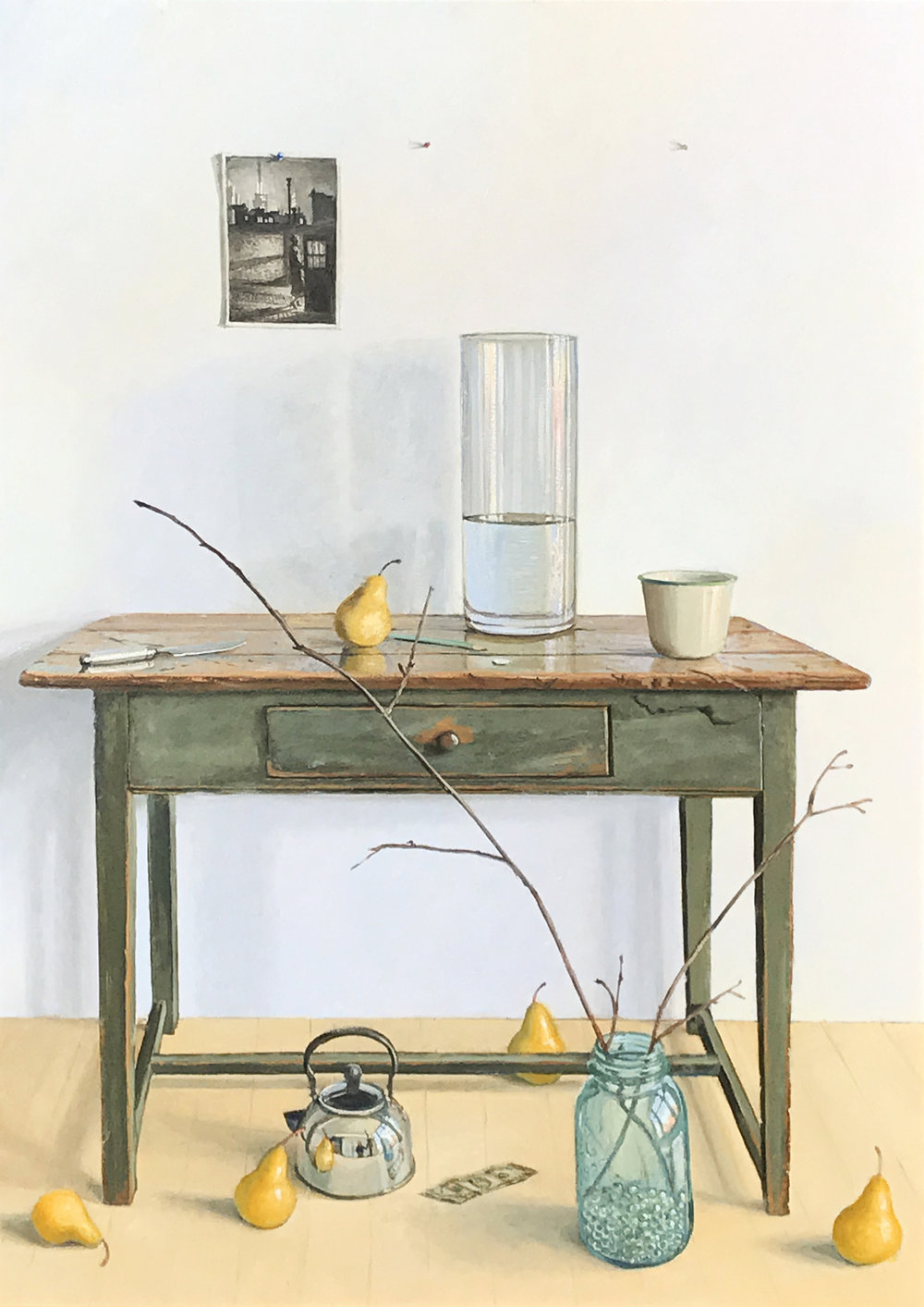 Eric Forstmann. Deconstructed Still Life, 2017. Oil on board, 28 1/2 x 20 1/2 in.