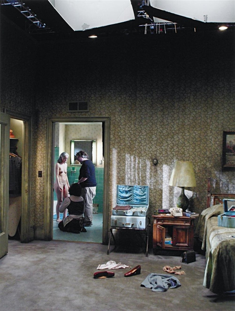 Gregory Crewdson. Production Still B (Beneath the Roses), 2005. Vintage C-print, 16 x 11 in.