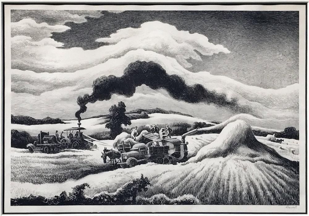 Threshing, 1941.