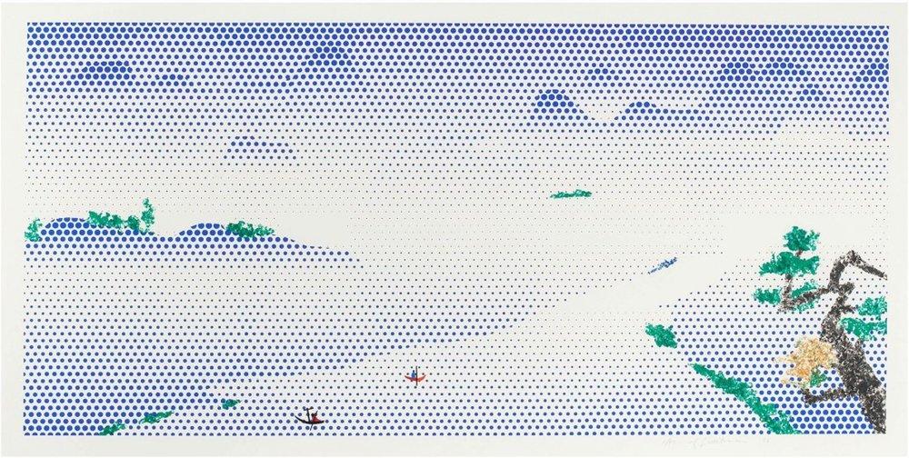 Roy Lichtenstein. Landscape With Boats, 1996.