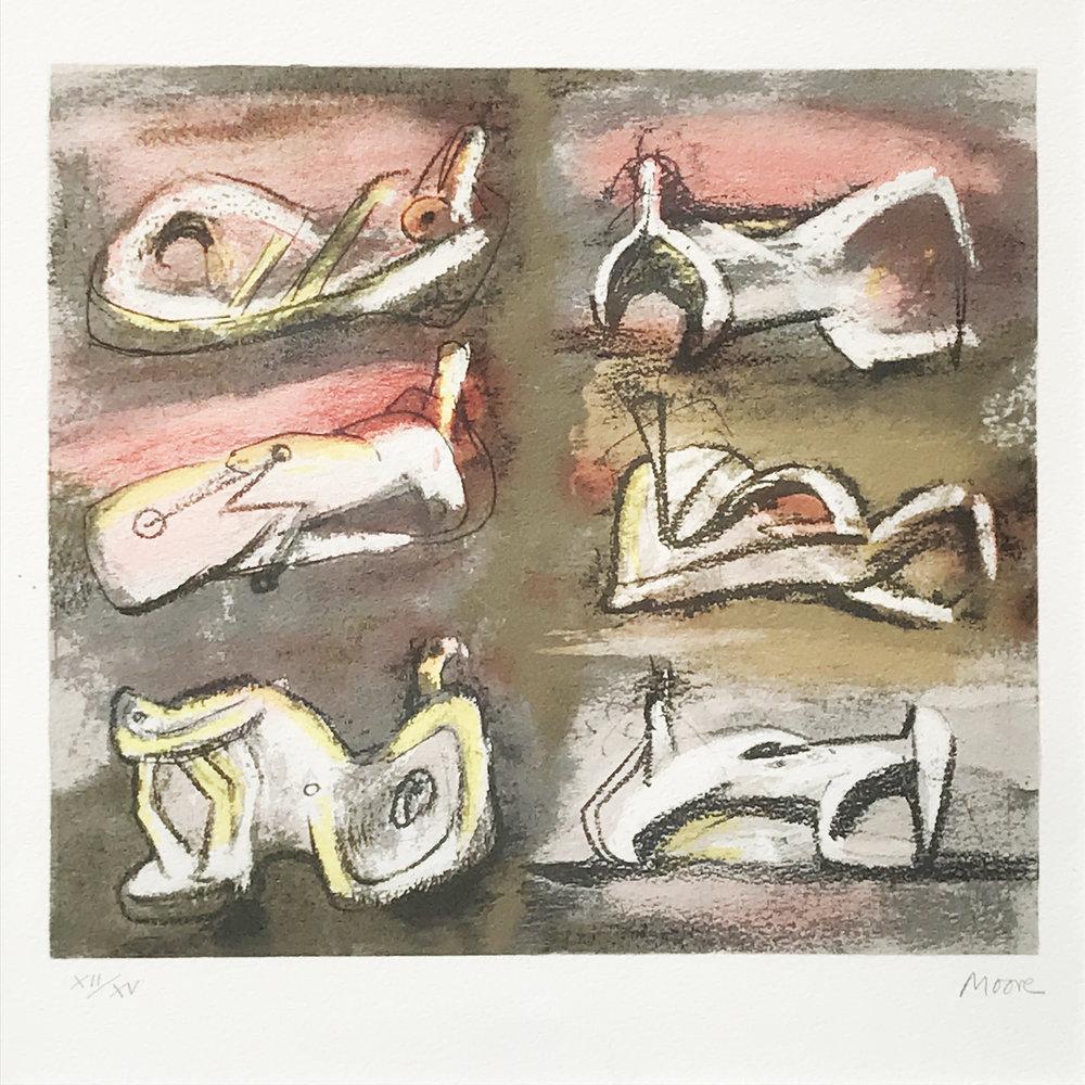 Henry Moore. Six Figures, 1981.
