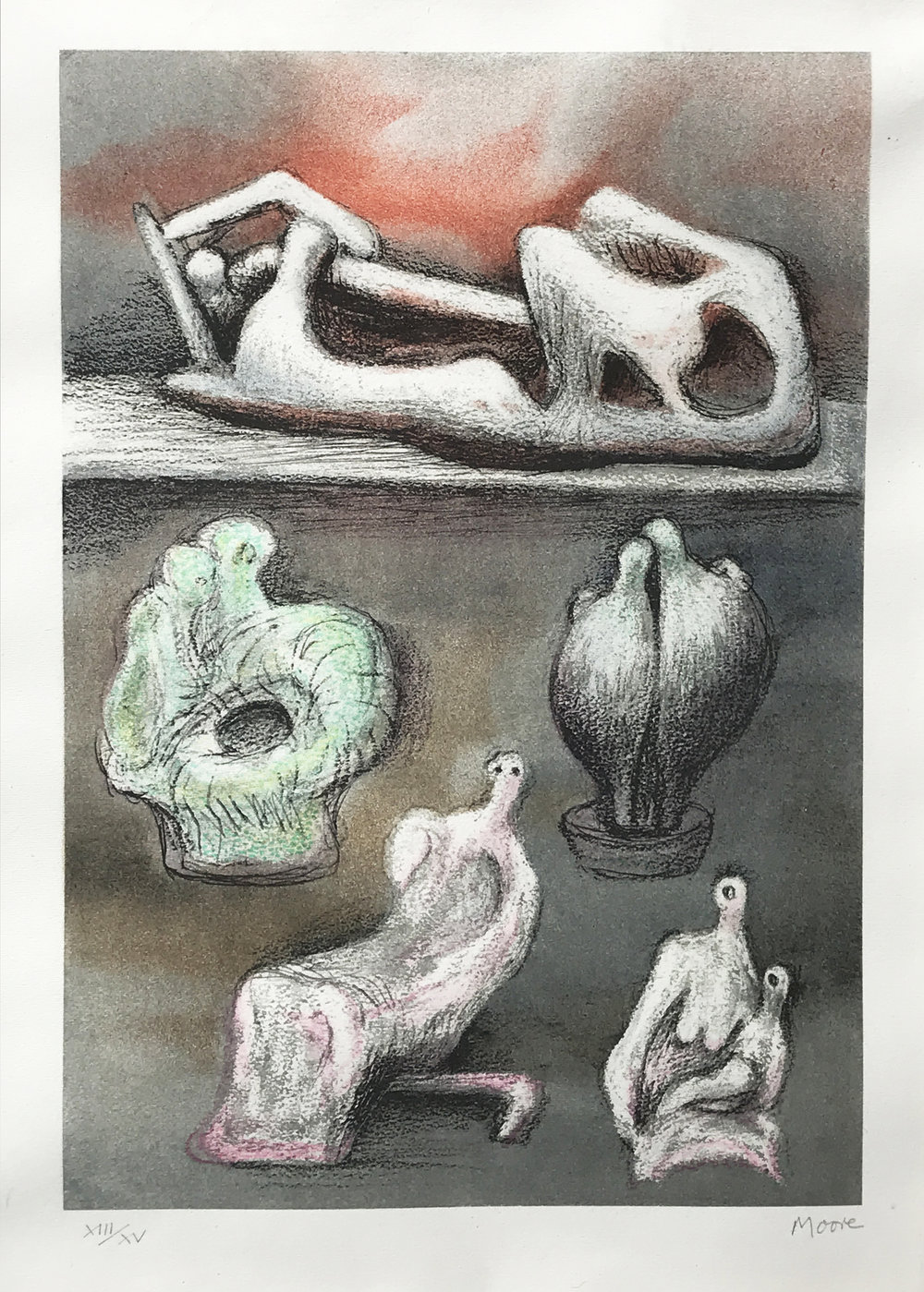 Henry Moore. Five Ideas, 1981.