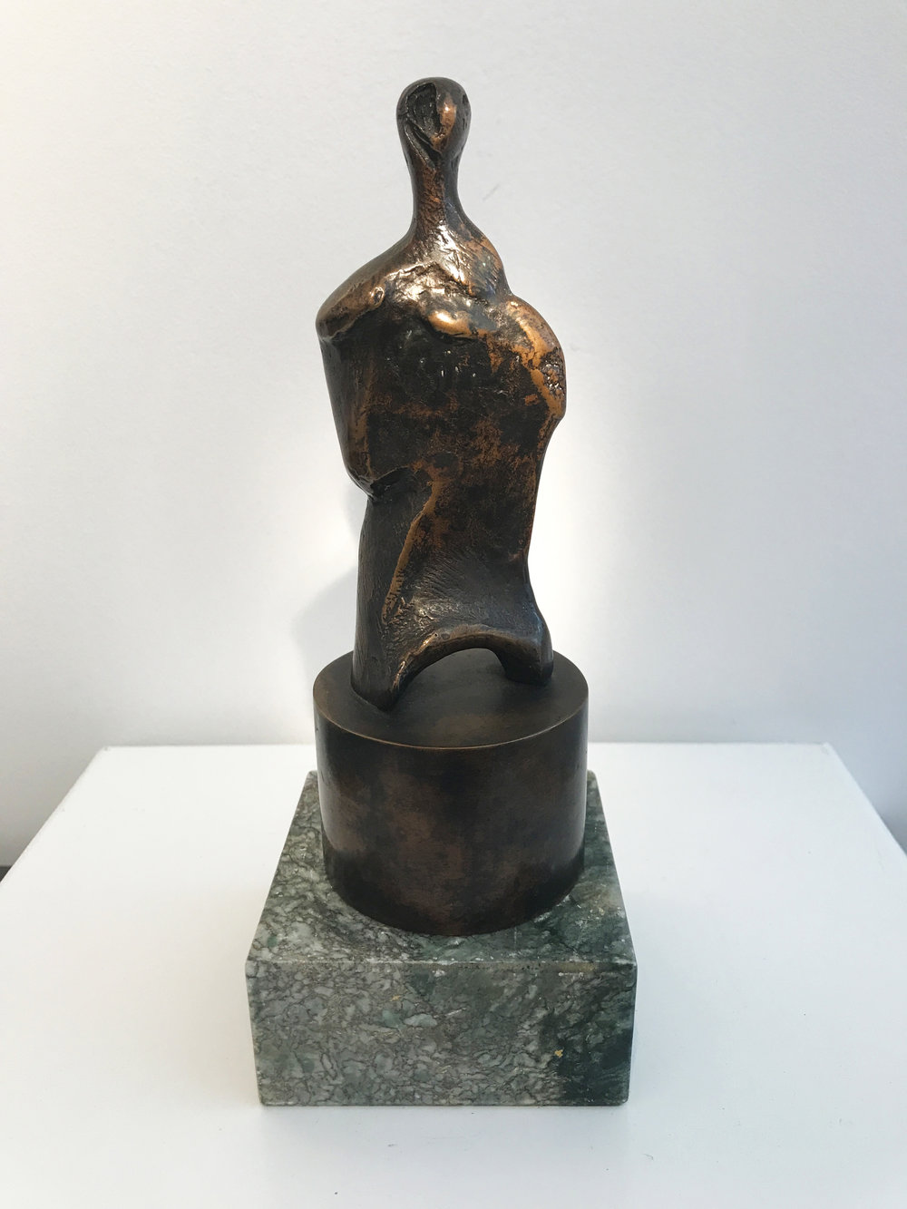 Henry Moore. Three-Quarter Figure on Tubular Base, 1983.